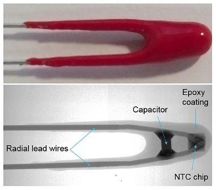 Thermometrics NTC Thermistors   Epoxy Type NKI Noise Immune